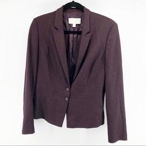 Hugo Boss Two Button Purple Virgin Wool Blazer